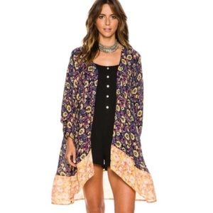 Billabong Sunflower Kimono Top s/m boho